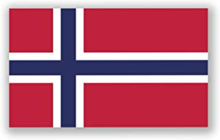 JMM Industries Norway Flag Vinyl Decal Sticker Kongeriket Norge Norwegian Car Window Bumper 2-Pack 5-Inches by 3-Inches Premium Quality UV-Resistant Laminate PDS501