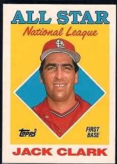 Baseball MLB 1988 Topps Tiffany #397 Jack Clark Cardinals