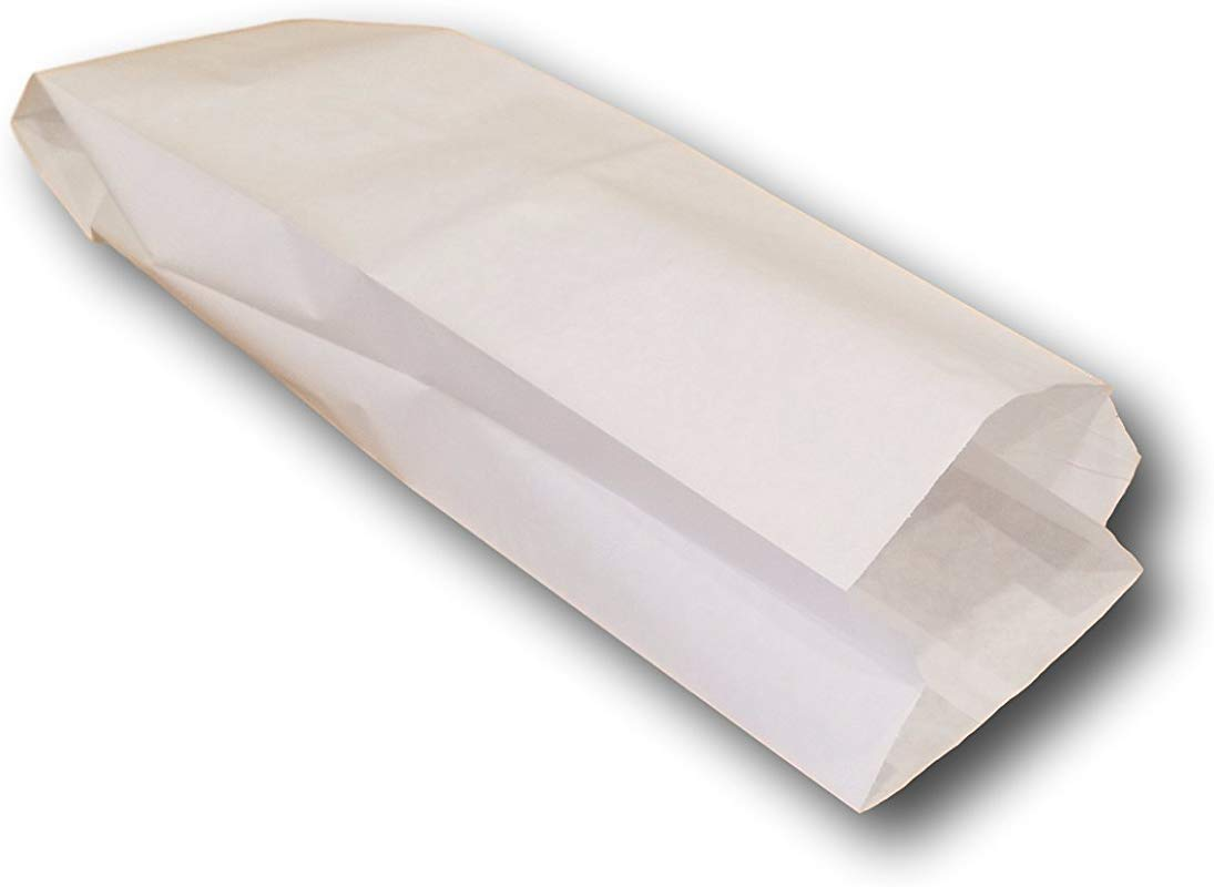 5 1 4 X 3 1 4 X 18 Plain White Paper Bread Bag By MT Products 50 Pieces