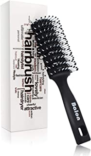Vent Hair Brush, 11 Row Vented Hairbrush for Men and Women, Vent Brushes With Ball Tipped Bristles for Wet Short Curly Straight Hair Blow Drying Quickly(Black)