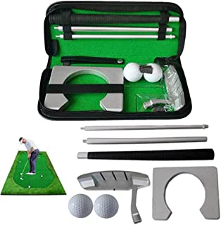 Portable Golf Putter Aluminum Alloy with Storage Case Exerciser Compact Golf Practice for The Road