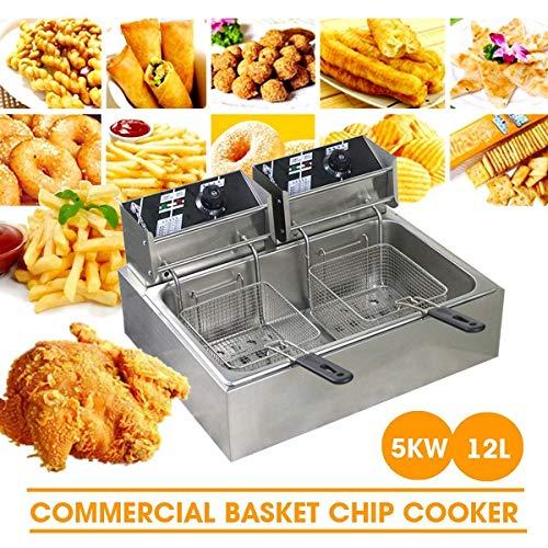 QWER 220V 5000W 12L Equipo de Restaurante Equipo de Cocina Freidora a presión Máquina Patata freidora Freidora eléctrica Freidora eléctrica