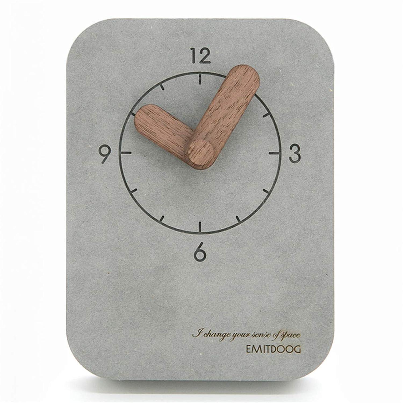 欺元に戻す統合PFLife 置き時計 木製 おしゃれ 小型 卓上クロック 北欧インテリア 置物 部屋装飾 レゼント (グレー)