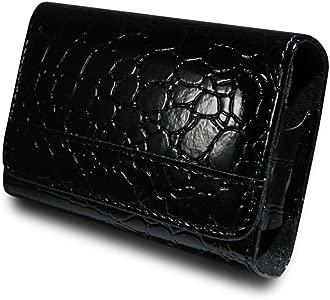 B24c Black Faux Leather Camera Case Pouch for FUJI FINEPIX AV230 AV235...