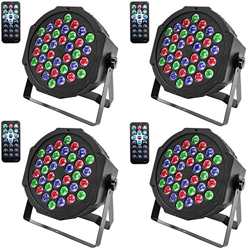 U`King Disco Lights, 4 Pack 36 LEDs Strobe Lights 7 Lighting Modes DJ Light...
