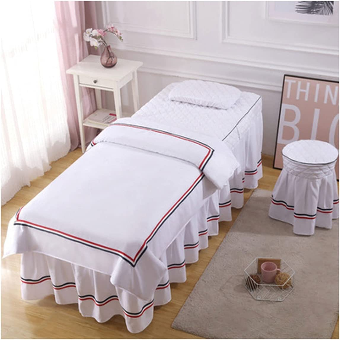 4-Piece Outlet ☆ Free Shipping Selling Massage Table Sheet Skirt Set Beaut