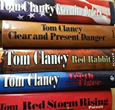 5 Volumes of Novels of Tom Clancy: 1) Executive Orders 2) Clear & Present Danger 3) Red Rabbit 4) The Teeth of the Tiger 5) Red Storm Rising