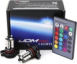iJDMTOY 27-SMD Multi-Color RGB 5202 2504 LED Replacement Bulbs w/IR Remote Control For Car Fog Lights or Driving Lights