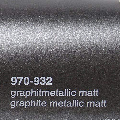 20,72€/m² Oracal 970RA 932 Graphit Metallic Matt gegossene Profi Autofolie 152cm breit BLASENFREI Folie mit Luftkanäle