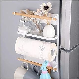 Accueil-Organisateur de Stockage Support de réfrigérateur, Support Mural latéral de Rangement de Cuisine Support de Servie...