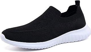 LANCROP Men's Walking Shoes- Lightweight Comfortable Mesh Slip on Sneakers