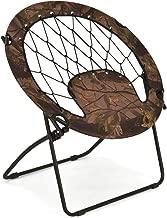 Giantex Folding Round Bungee Chair Steel Frame Outdoor Camping Hiking Garden Patio