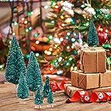 MELLIEX 60 Stück Miniatur Weihnachtsbaum Künstlicher Mini Modell Weihnachtsbaum Kunststoff Winter Ornamente für Tischdeko, DIY, Schaufenster - 7