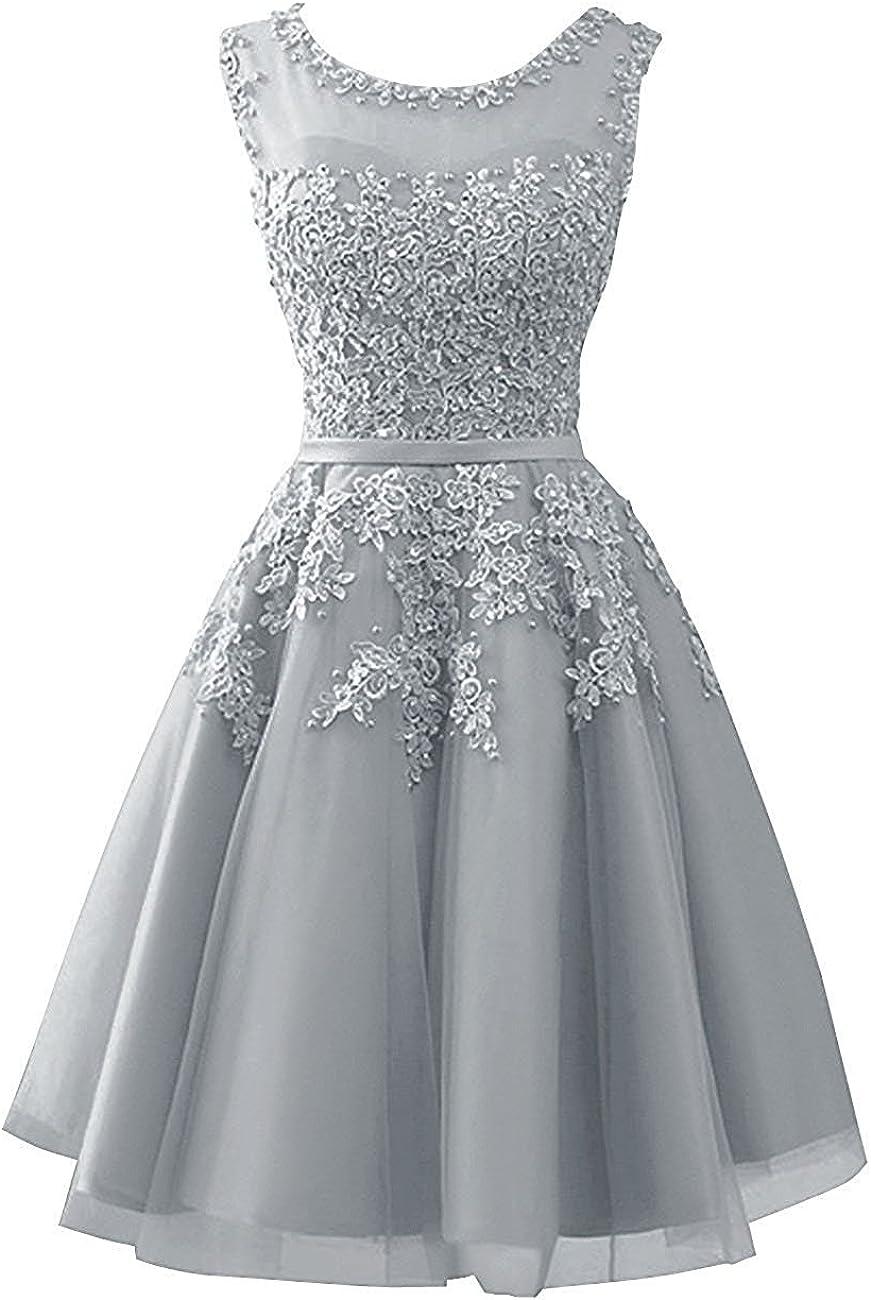 Cdress Women's Short Homecoming Dresses Tulle Junior Prom Dress