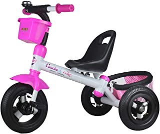 Tricycles for Girls, Trike for Kids Age 2/3/4/5/ Years Old Children, 3 Wheeler Bike Pedal Ride On, Adjustable Seat