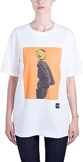 Calvin Klein Women's 8719113686-White T-Shirts