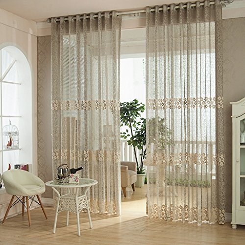 Met Love L'étude translucide de chambre à coucher de fil de chaîne de haute qualité examine 2 panneaux (Couleur : C, taille : L:1.5*H:2.7m)