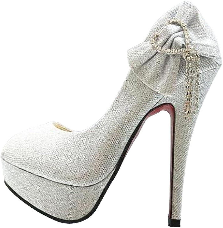 FORTUN Inlaid Rhinestone Stilettos Evening Dress Platform Matte high Heels