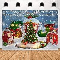 GooEoo 7x5フィートクリスマスキャンディハウス写真の背景冬の雪松の木雪Flaolliollipop背景バナー家族のパーティーの誕生日の背景ベビーシャワーの装飾ビニール素材