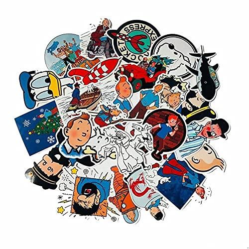 WYDML Etiqueta engomada de dibujos animados Anime Películas Aventuras Maleta Cuaderno Doodle Etiqueta de los Niños Juguete Decoración del Coche Regalo Adulto 25pcs
