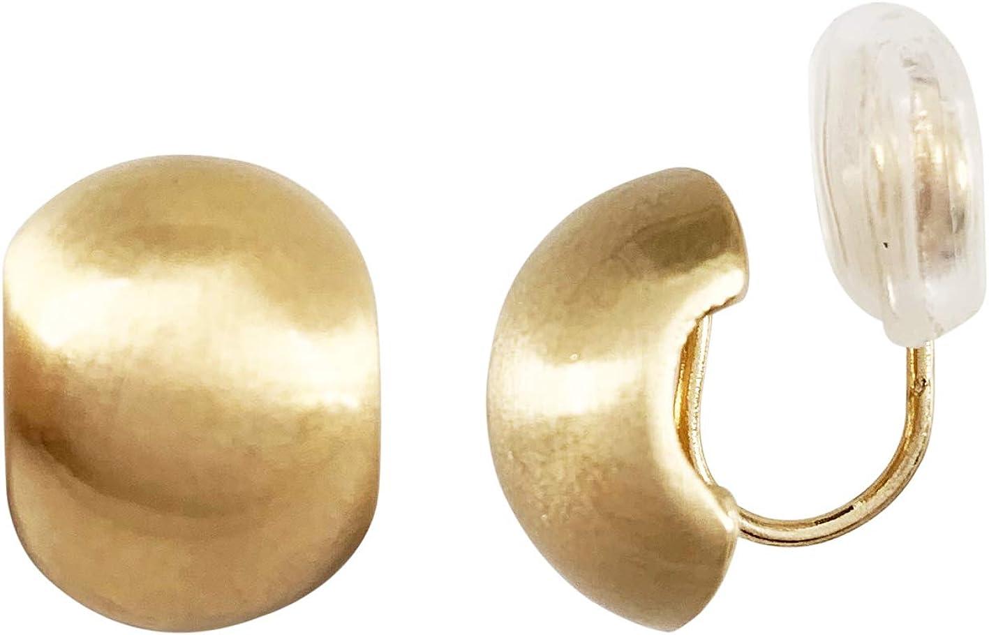 HAISWET Gold Tone Boho Style Art Deco Stud Clip On Earrings