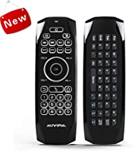AuviPal G9 Backlit Air Mouse Remote with Keyboard Combo (5 Programmable Keys + QWERTY Keyboard + Air Mouse) for Nvidia Shield, Android TV Box, Streaming TV Stick, Raspberry Pi, HTPC, Mini PC and More