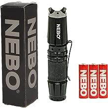 NEBO 5872 CSI Edge 90 Lumens Aluminum LED Flashlight 5872 with 2X Extra Energizer AA Batteries