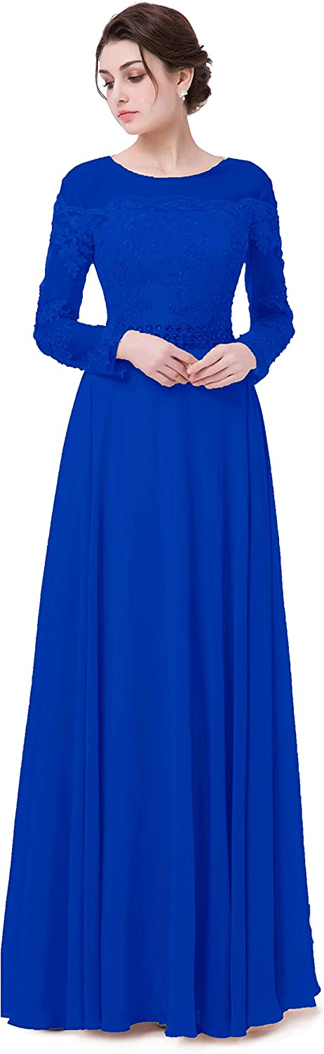 EieenDor Women Long Sleeves Formal Evening Dress Party Prom Gown Beaded Plus Size