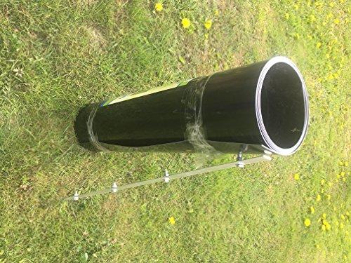 Gebo Bambussperre | Wurzelsperre | Rhizomsperre 80 cm x 3,2 m HDPE mit Schiene