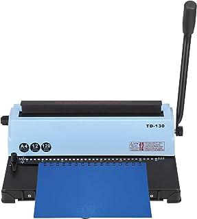 VEVOR Relieuse Perforeuse a4 en Acier Plastique Machine Spirale 120 Feuilles de Papier Relieuses et Accessoires 34 Trous M...