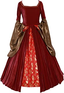 Women's Anne Boleyn Dress Costume from The Other Boleyn Girl Tudor Renaissance red Gown