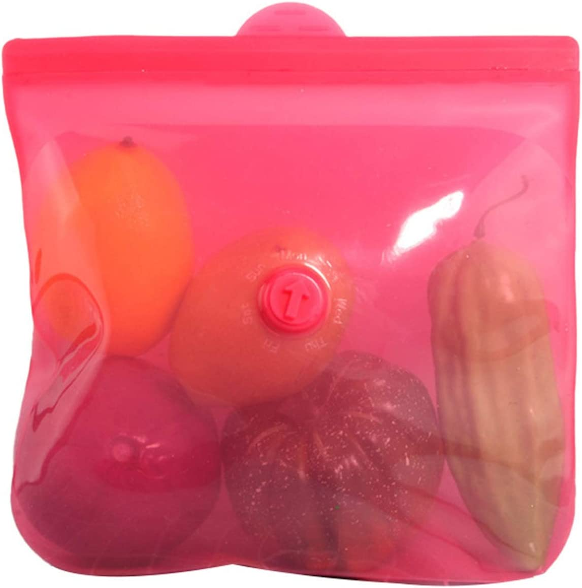 Silicone Storage Bags Reusable 祝開店大放出セール開催中 Airtight Food Preservation Seal メーカー再生品 B