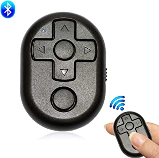 Wireless Bluetooth Camera Shutter Remote Control, Create Amazing Photos and Selfies/Video Recording/Games Controlled, Compatible with Apple/Android Universal (Black)