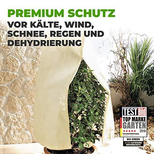 Bio Green Winterschutz Kübelpflanzensack, beige, super Stark , XXL 240 x 200 cm - 2