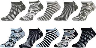 Calcetines para hombre (10 unidades, tallas 40-46, alto porcentaje de algodón, sin costuras)