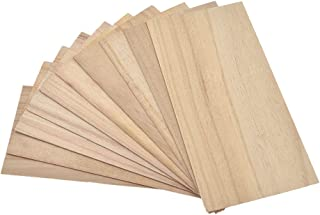 BetterUS 10Pcs Wooden Plate Model Thin Wood Sheets for DIY House Ship Aircraft Boat 200x100mm