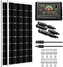 SUNGOLDPOWER 200 Watt 12V Monocrystalline Solar Panel Module Kit:2pcs 100W Mono Solar Panel Solar Cell Grade A +20A LCD PW...