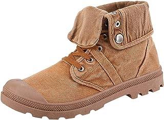 S&H-NEEDRA Bottes Homme, Chaussures Montantes pour Hommes en Toile Bottines éPaisses Bottines Chaussures Extérieur Chaussu...