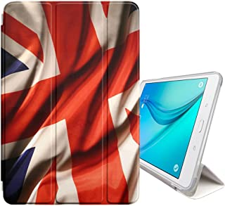 FJCases UK United Kingdom British Flag Union Jack Smart Cover Stand + Back Case with Auto Sleep/Wake Function for Samsung Galaxy Tab S2-8.0
