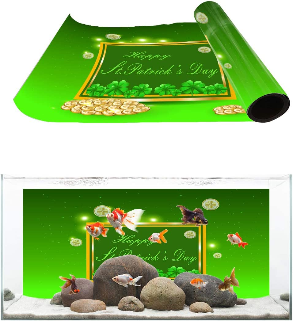 TH XHome Aquarium Décor Backgrounds It is very popular Patrick's Max 65% OFF St. Day Clo Happy