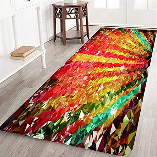 PATINISA Alfombra Larga Decorativa de Lujo Fondo Low Poly alfombras Extra Suaves y cómodas para Dormitorio,Sala de Estar,niñas,niños,guardería