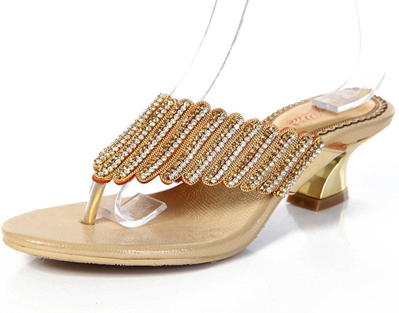 Doris Fashion Women's Bling Bling Rhinestones Flip Flops Evening Wedding Sandals