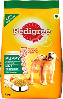 Pedigree Puppy Dry Dog Food, Milk and Vegetables, 1.2kg Pack