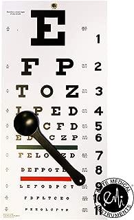 EMI OCC-SNW Occluder Plus Snellen Eye Test Exam Plastic Wall Chart 22 x 11 in. 2 piece set
