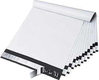 Fuxury 10x13 Inch 100 Pcs White Poly Mailers Shipping Envelopes, Self-Sealing Envelopes, Boutique Custom Bags, Enhanced Du...