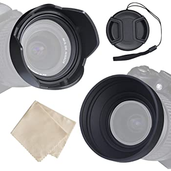 Gadget Place Professional 3-Stage Collapsible Universal Rubber Multi-Lens Hood for Nikon Nikkor Z 50mm F1.8 S