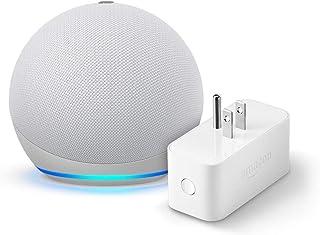 Echo Dot (4th gen.), Glacier White with Amazon Smart Plug
