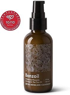 Benzoil - 3% Benzoyl Peroxide & 2% Tea Tree Oil Rapid Acne & Spot Treatment Serum - 70% Organic, Preservative-Free, Normal & Cystic Acne - 2 oz