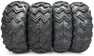 SUNROAD Set of 4 ATV/UTV Tires AT 25x8-12 Front & 25x10-12 Rear 6PR P306