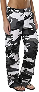 Women's Loose Fit Cargo Pants Outdoor Multi Pockets Quick Dry Jungle Hiking Military Trousers